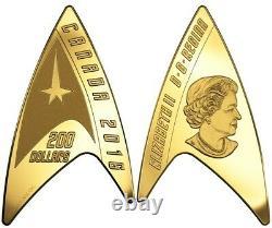 Star Trek 2016 Canada Delta Shape 1/2 Oz Pièce D'or
