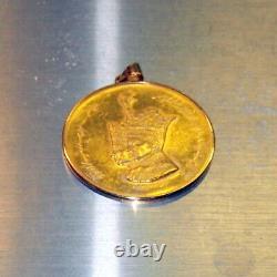 Uk Mint 900 Or Rare C1968-1ère Année Coin Couronnement Shah / Pendentif 26.3 Gr, Boîte