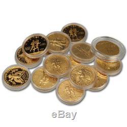 Us Gold $ 10 Pièces Commémoratives (. 48375 Oz) Aléatoire Date