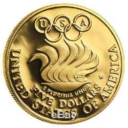 Us Mint Or 5 $ Pièces Commémoratives Bu / Preuve (random Année)