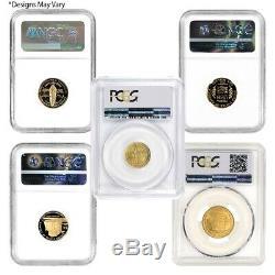 Us Mint Or 5 $ Pièces Commémoratives Ngc / Pcgs Ms / Pf 69 Année Aléatoire