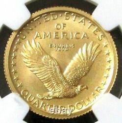 W Gold Standing Liberty Quarter 25c Centennial 25c 1/4 Oz Slq Ngc Sp70
