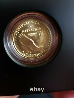 W Standing Liberty 2016 1/4oz Quarter Gold Centennial Commemorative Coin Ogp