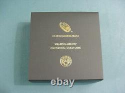 W Walking Liberty 2016 1/2oz. 9999 Médaille Commémorative Du Centenaire De L'or Ogp