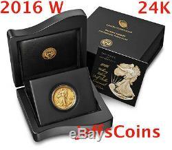 Walking Liberté Half Dollar 2016 W. Gold Coin Du Centenaire 9999 24 Carats 1916 16xa