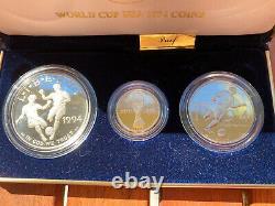 World Cup USA 1994 Série Commémorative 3-coin Gold & Silver Missing Coa
